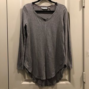 Anthropologie   Pure + Good Grey Mossy Green Top